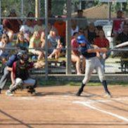 Batter swinging